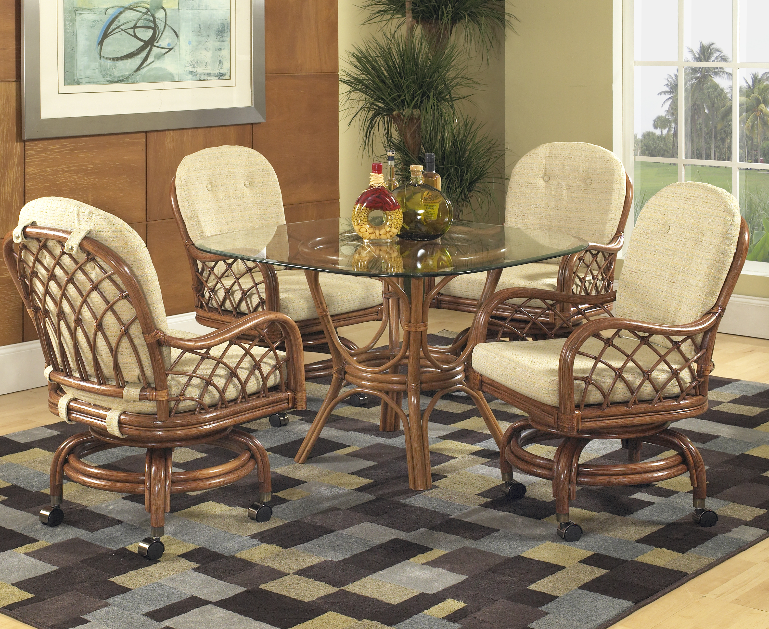 Enjoyable Grand Isle Swivel Dining By Classic Rattan Theyellowbook Wood Chair Design Ideas Theyellowbookinfo