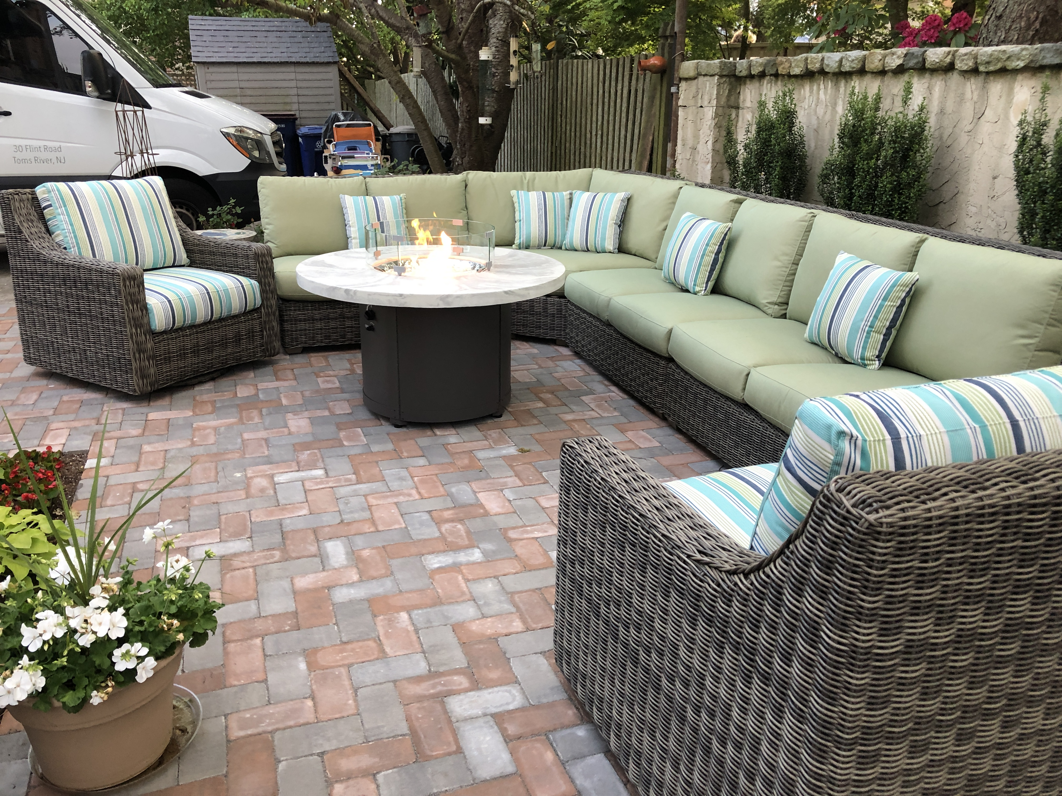 Oasis Sectional By Lane Venture The Wickery Outdoor Furniture Toms River New Jersey