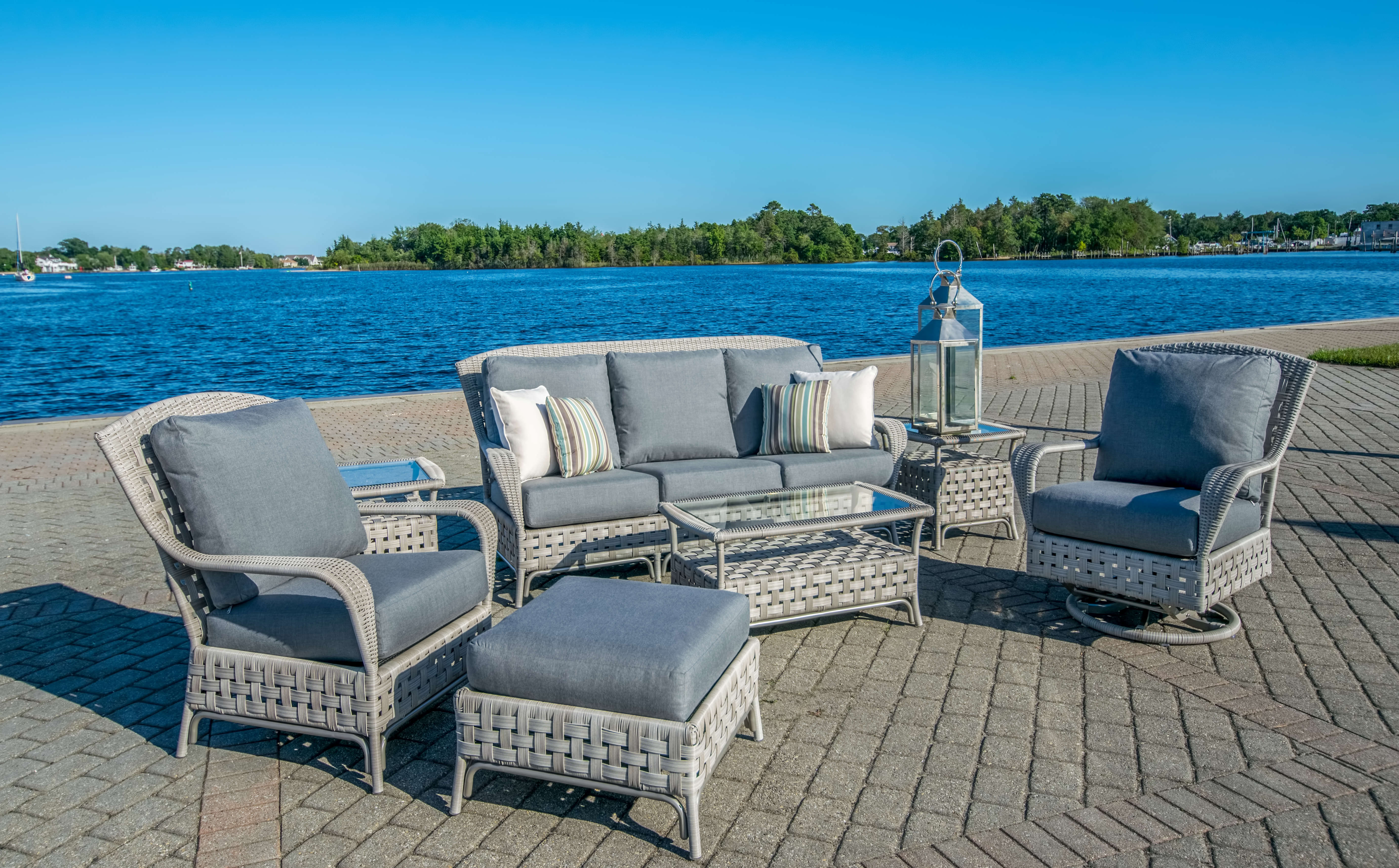 Haven By Lloyd Flanders Putty Grey Wicker Outdoor Furniture The Wickery