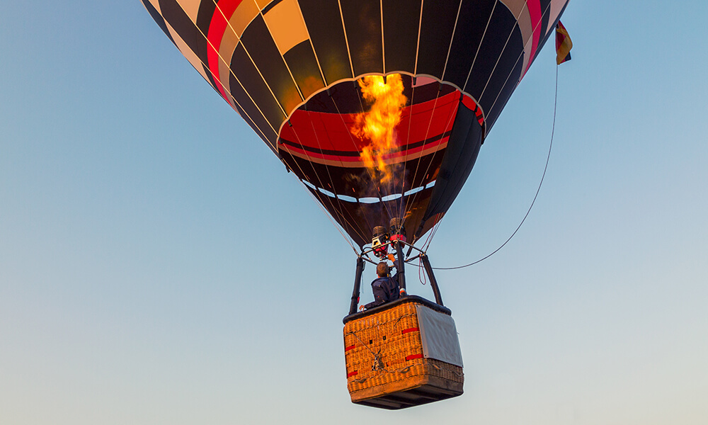 a hot air balloon in the sky