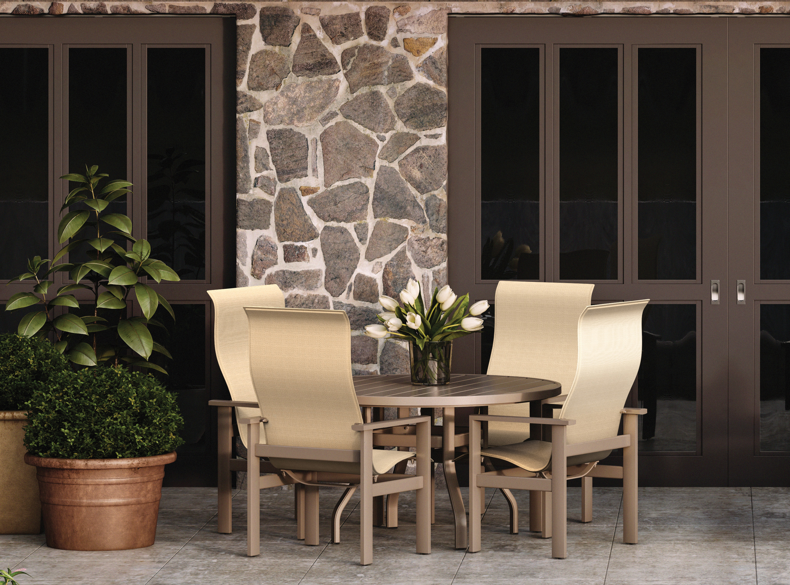 on who has replacement slings for high back patio furniture homecrest