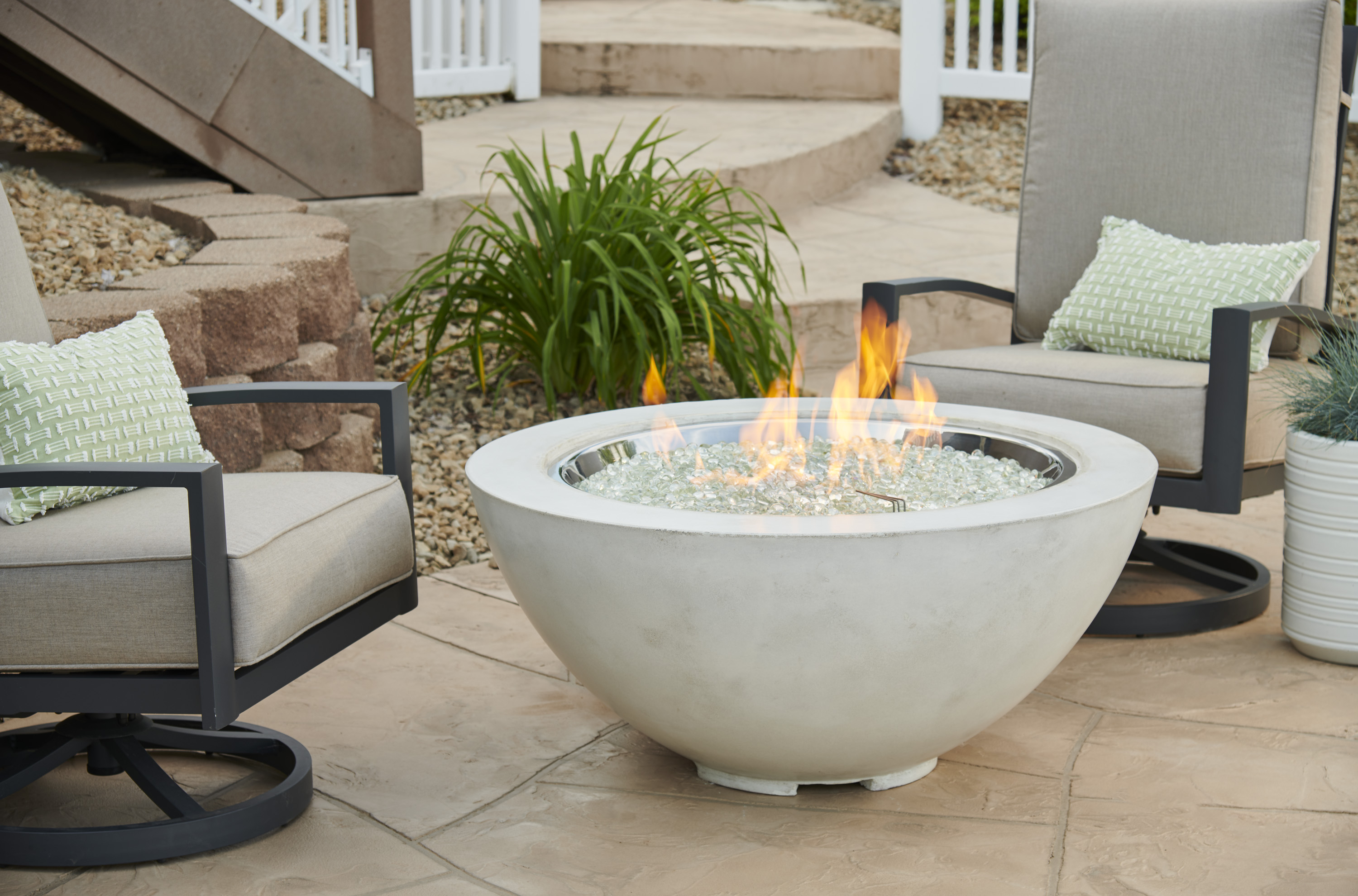 White Cove 30 Quot Gas Fire Pit Bowl By Outdoor Greatroom